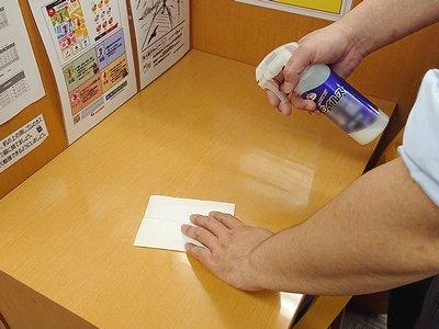 毎日、個別指導ブース等の教室内設備を清掃・消毒しています。